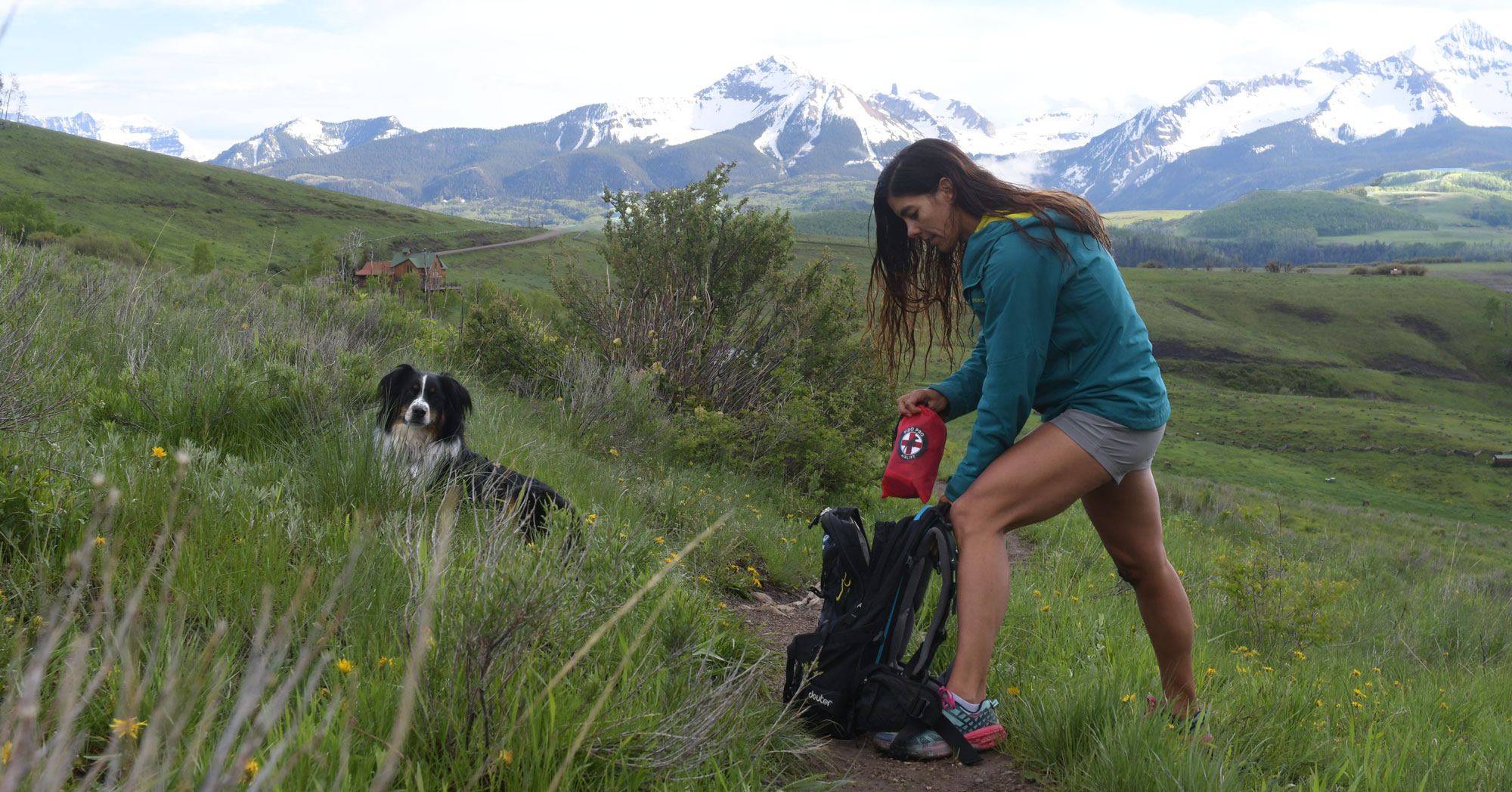 Emergency Dog Carrier for Trail Runners