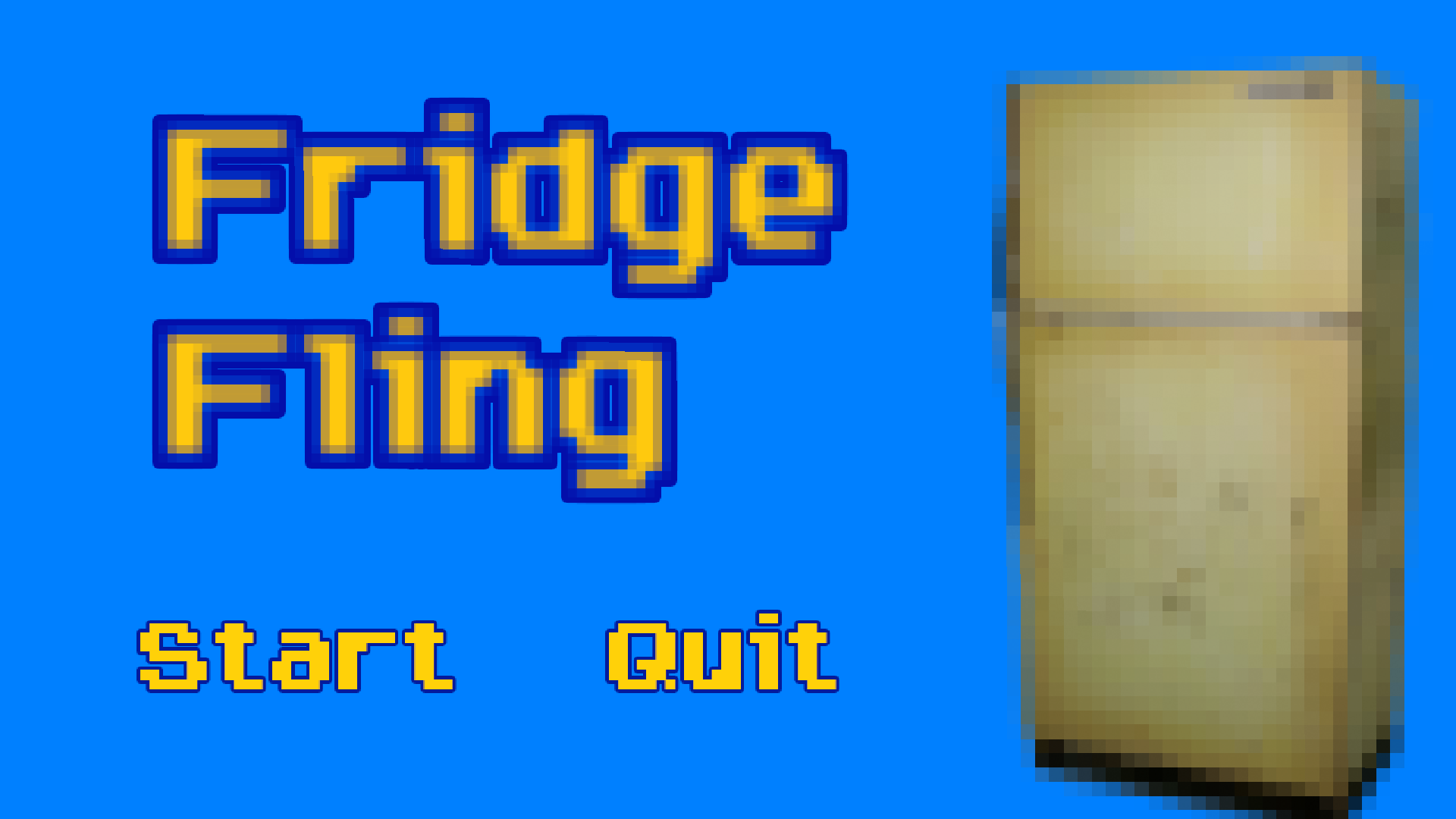 Fridge Fling - educational game about projectile physics