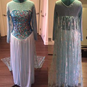 Original dress before cutting.