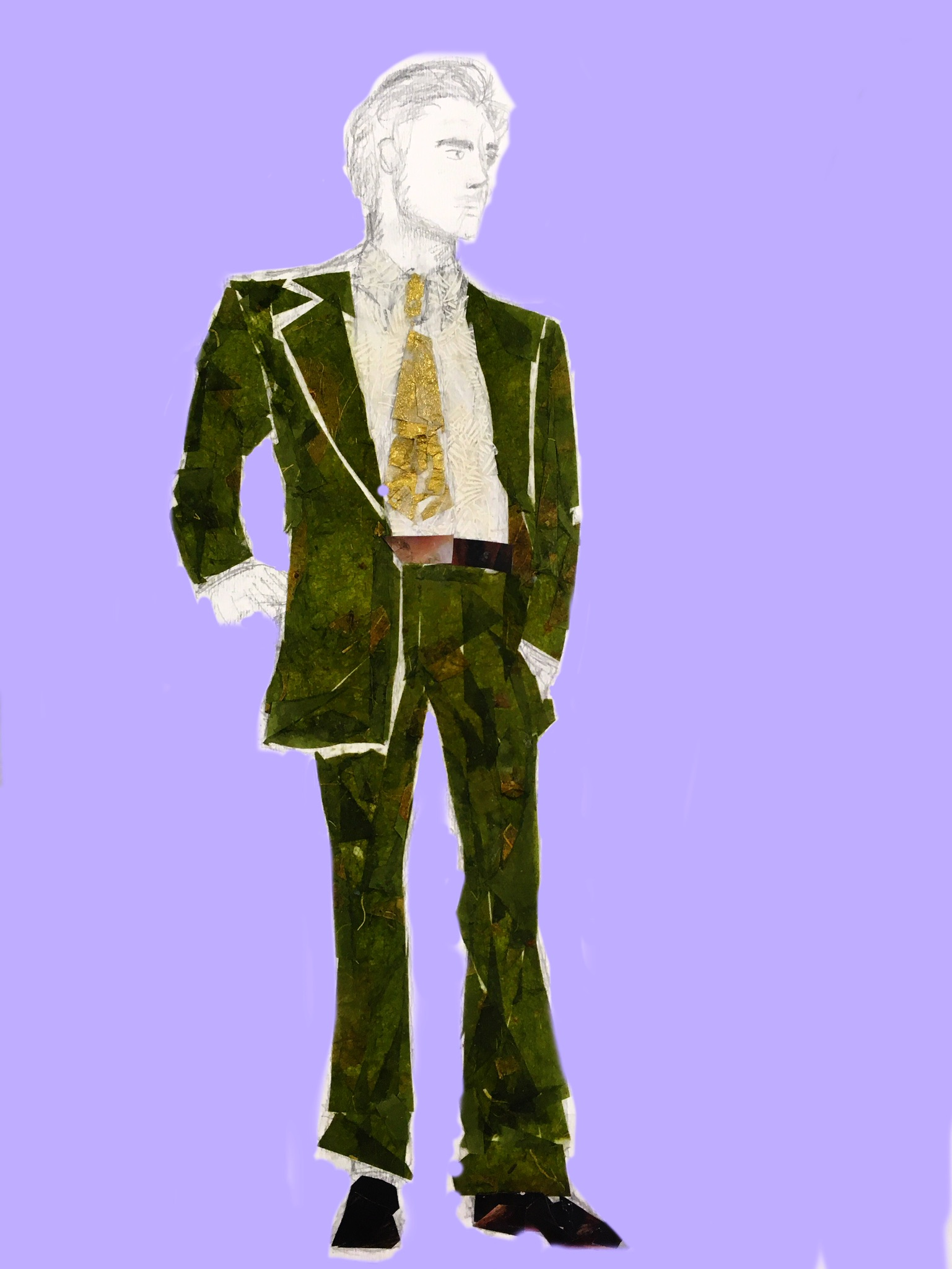 Collage Work of 1970s Suit