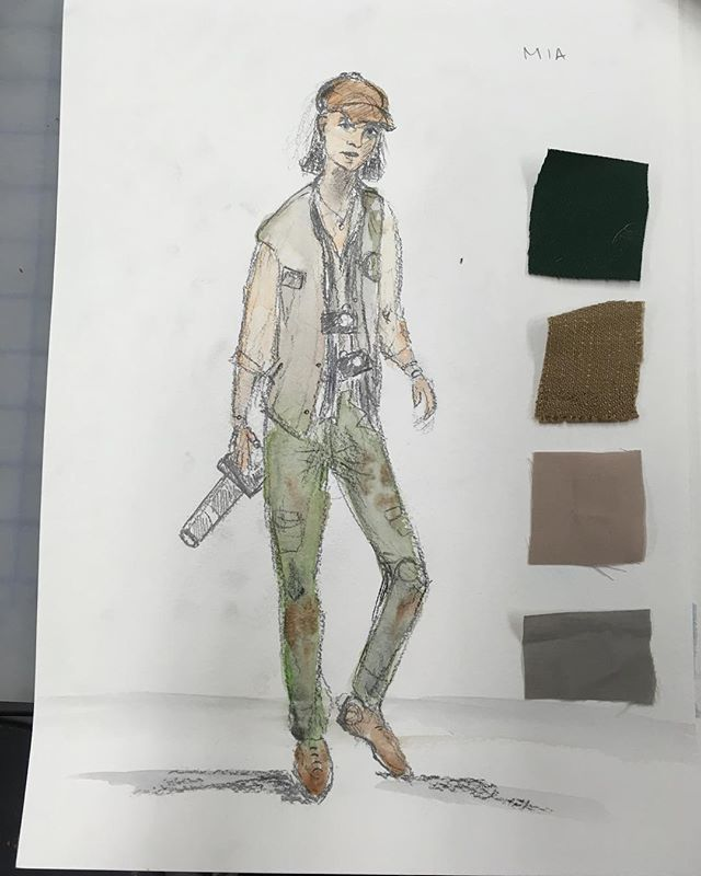 Preliminary costume sketch for  my theater show this winter :)