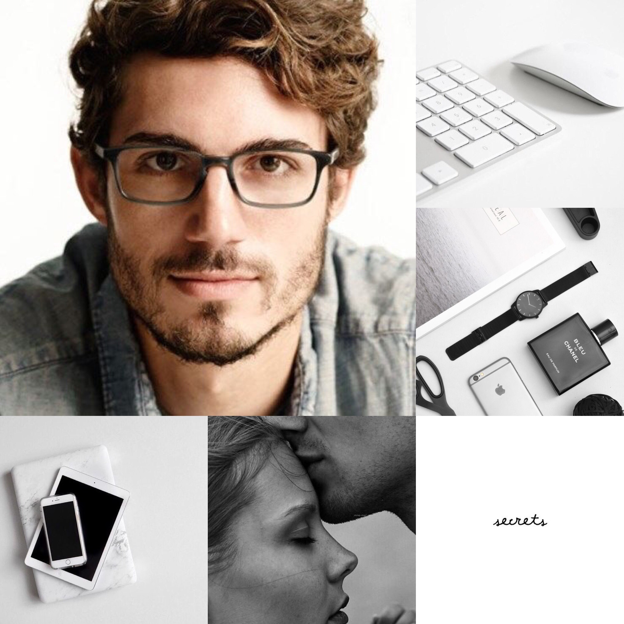The aesthetic for My MC's husband, Eric.