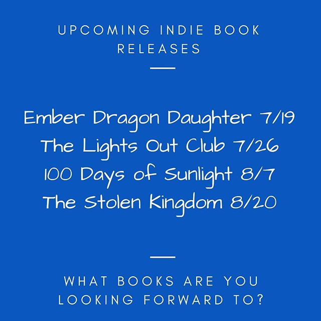 I'm going to be so busy these next few months reading and reviewing all the fun and amazing things! 💫  What upcoming indie book releases are you looking forward too? I can't wait to add more to my list! 📖