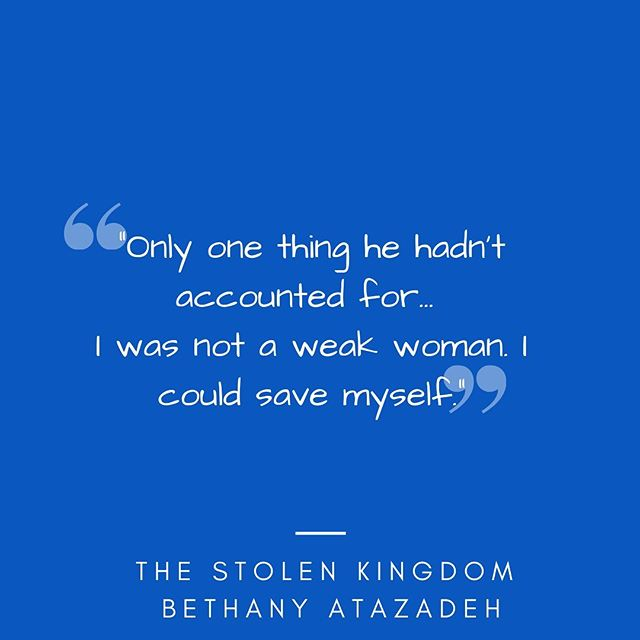 💫 So many Announcements! 💫  First, the above quote is from the newest book from the wonderful @authorbethanyatazadeh The title of her book is The Stolen Kingdom and you can find my review of her book on my blog. To check it out, click the link in my bio to access my website, and then click Blog in the menu bar at the top, and then click Book Reviews.  Second, also on the blog you can find something new I'm trying out. Lately, with the help of @netgalley I've been in a reading frenzy so I've started a new weekly blog series on my website where I post the books I'm reading that week. To see my picks for this week, click the link in my bio to access my website, and then click Reading in the menu bar at the top.  Finally, if you love cozy mysteries, make sure you join @lisalattebooks and @Courtagonist tonight at 7 PM CST. You don't need to have read this month's pick (Marigolds and Murder by London Lovett) because they will recap the book at the beginning of the livestream, but to sign up and get a reminder when they go live click @lisalattebooks link in her bio. Hope to see you there.  Happy reading and happy writing my friends!