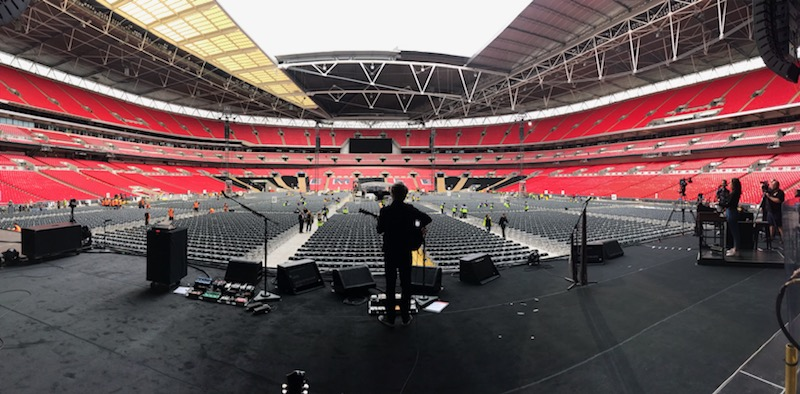 Neil Finn soundcheck Wembley Stadium.jpg