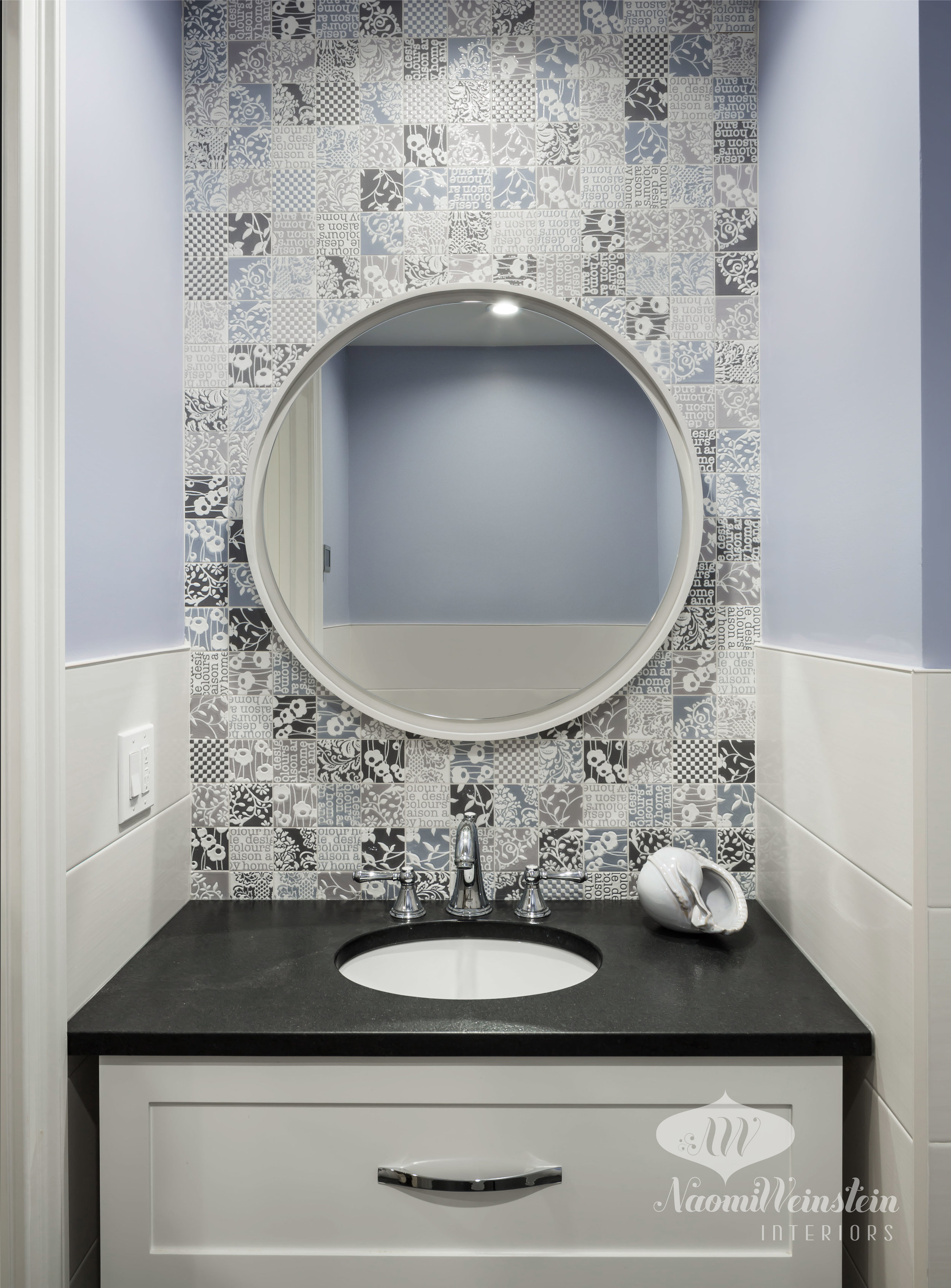 Vanity Area Feature Wall by  Naomi Weinstein