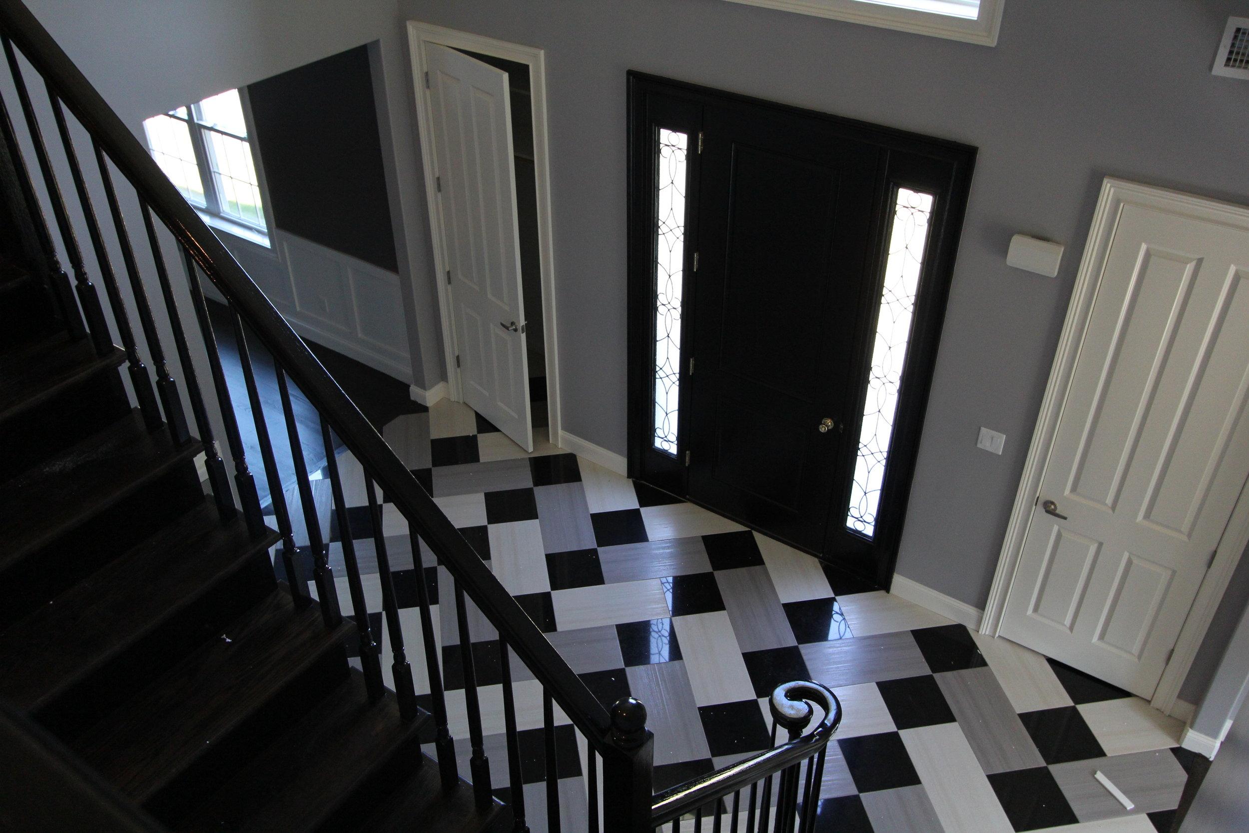 Custom Patterned Foyer Floor