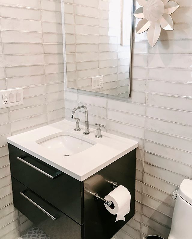 @ettaubdesign does it again with a stunning girls bath design. 🧖🏼‍♀️💁🏻‍♀️ Find this handmade ceramic tile & more at Ceramic Creations. | #interiordesign #bathroomdesign #ceramiccreations