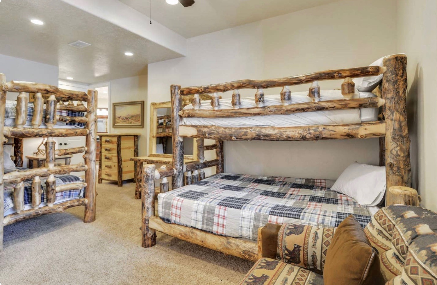 Family Room: Two Bunk Beds, Private Bathroom.  $3,100