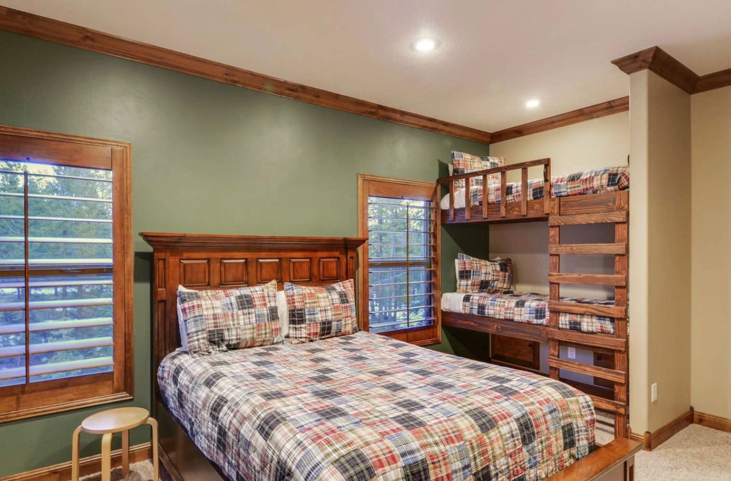Family Suite: Queen Bed, Bunk Bed, Private Bathroom.  $3,100