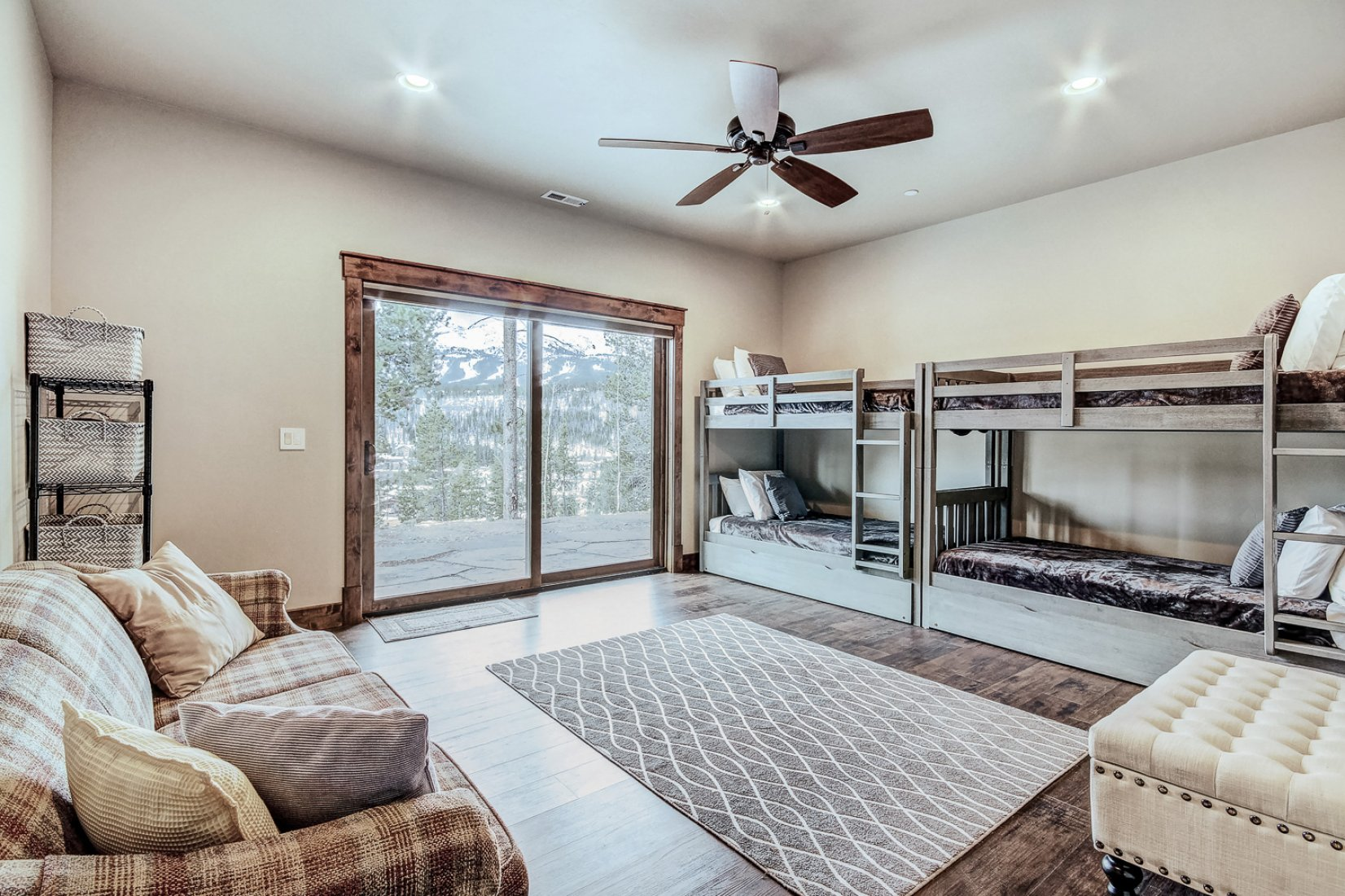 Family Room: Two Bunk Beds, Private Bathroom.  $3,200