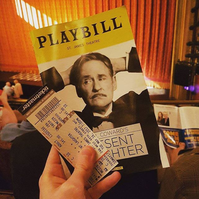 Last night with mum 😭 laughed and cried seeing Present Laughter starring Kevin Kline #theatre #newyorkcity #NYC #Broadway #acting #art