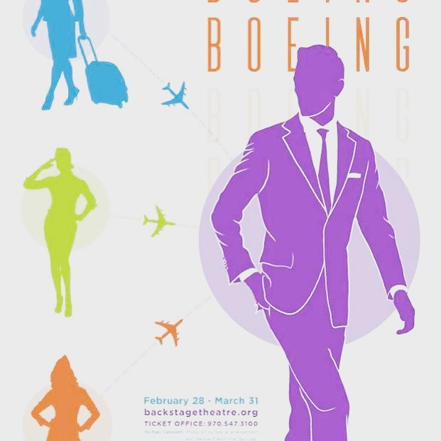 """One up, one down, one pending"" So happy to be reprising the role of Bernard in #boeingboeing for @breckenridgebackstagetheatre come and see us all through March!!! #actor #theatre #breckboeingboeing #breckenridge #breckenridgecolorado #actorlife"