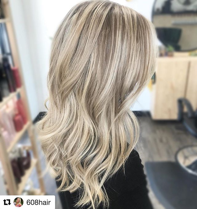 #Repost @608hair with @get_repost ・・・ Added some natural colored lowlights to this blonde for a new look ✨ swipe for before