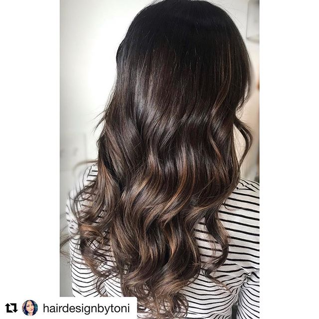 #Repost @hairdesignbytoni with @get_repost ・・・ A little dimension goes a VERY long way!! #chocolatey 🍫