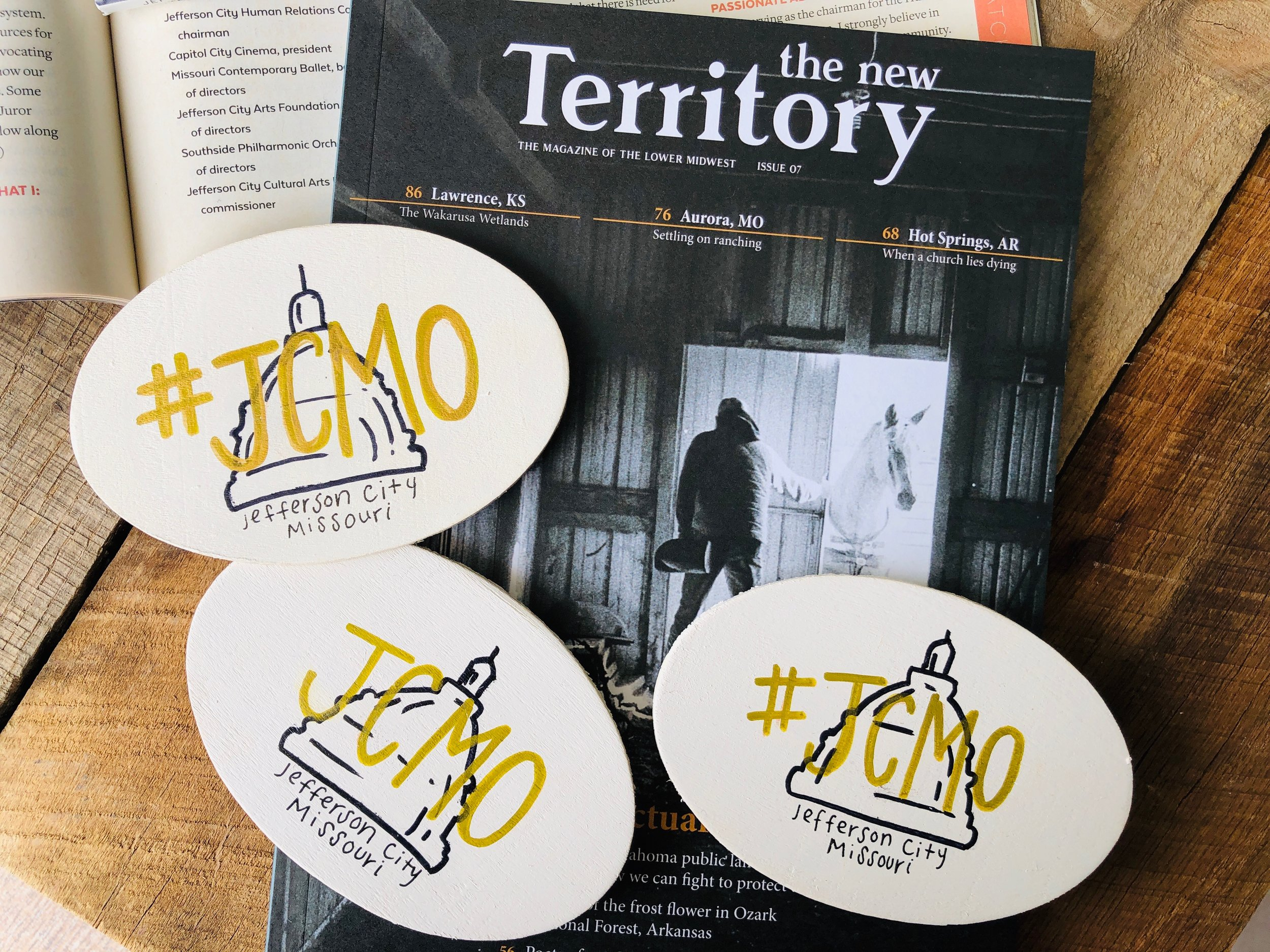 Magpie MO Designs JCMO Magnets & New Territory Magazine