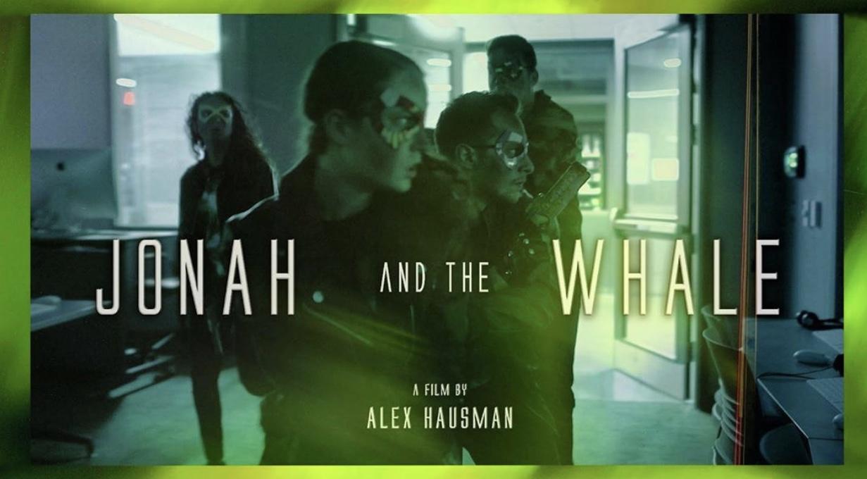 Title card for Alex Hausman's sci-fi short film  Jonah and the Whale.  Performers: Steven William Moore, Jane Kilen, Clotilda DeMauro, Rob Hoffman.
