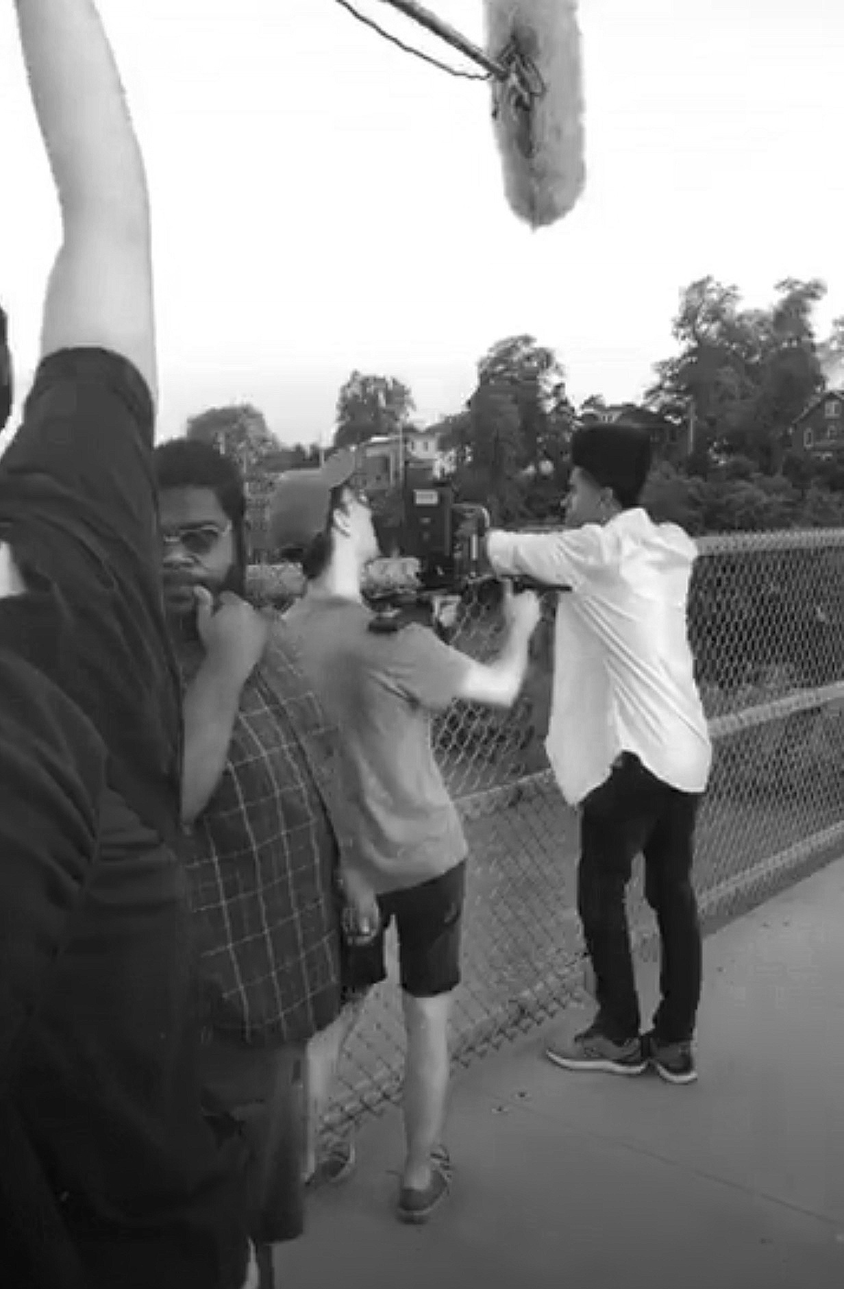 I Love You, Elliot  shoots on the Missouri River Bridge. Featured: Marcelese Cooper, Evan Reardon, Kendrick Smith, Bryan Brayton.