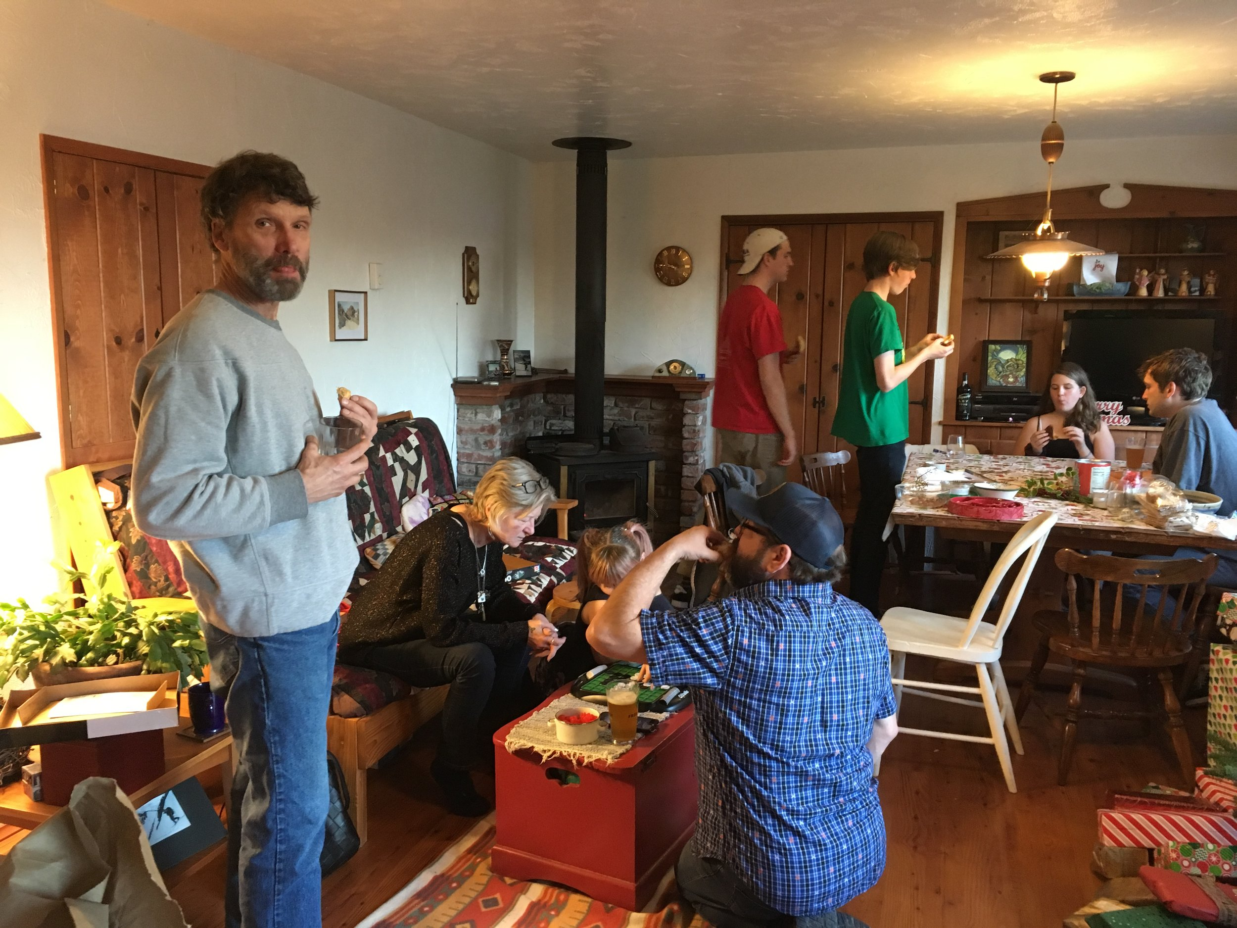 Scott Rampton, Karyne Pesho (Ron's friend), London (Karyne's granddaughter), Joel, Miles, Lucas, Carly, and Sam.