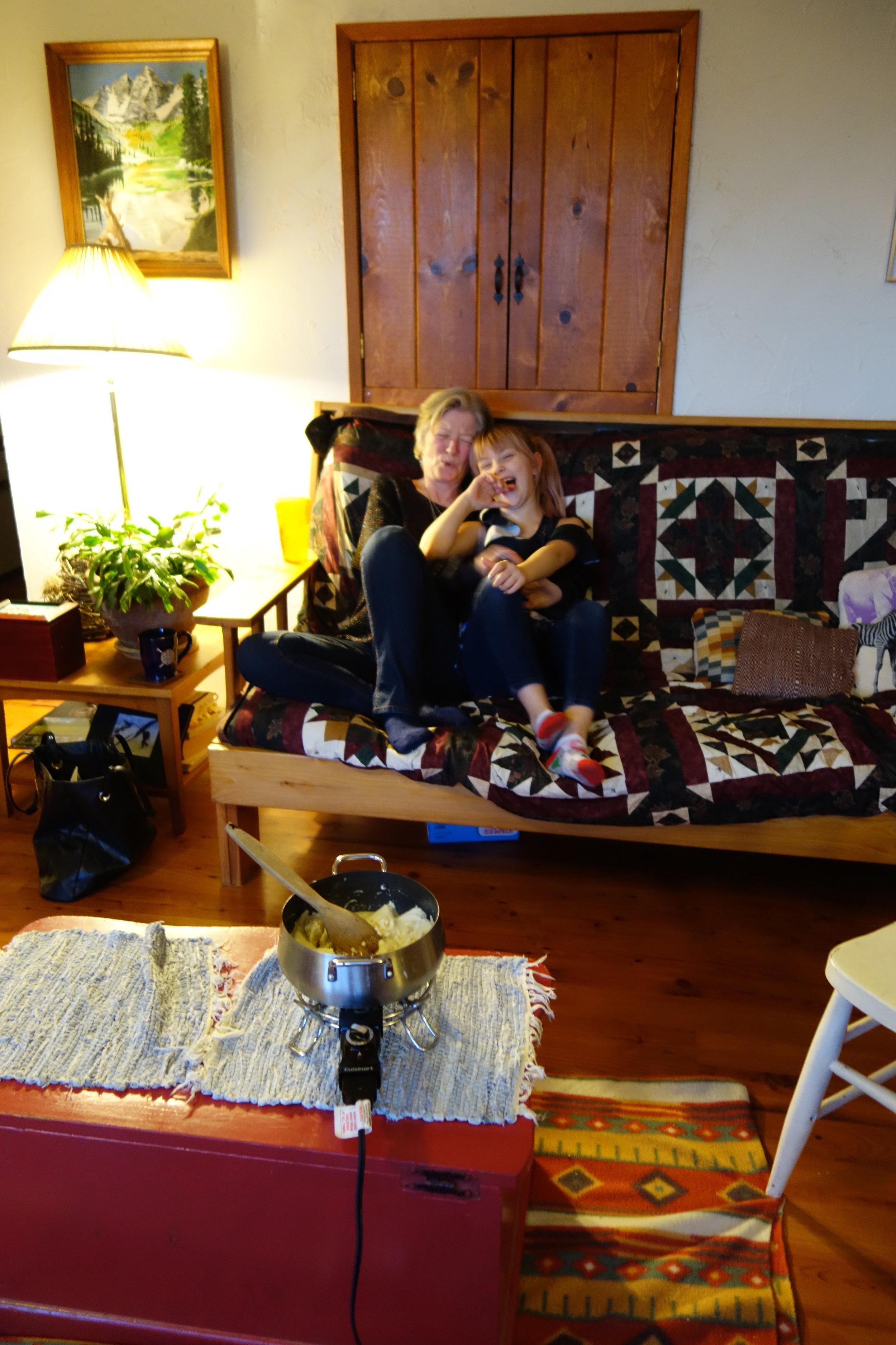 Karyne, Ron's friend, and London, Karyne's granddaughter.