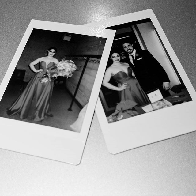 Found a couple old memories from what feels like a lifetime ago. Miss this gown #lovethis #polaroid #memories #backintheday #singer