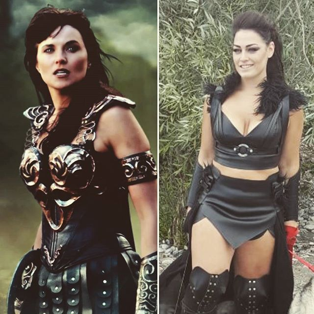 Everyone keeps telling me I look like next generation Xena... I don't think so but maybe there are a few similarities #warrior #warriorprincess #xena #lookalike #twinsies 🤔🤣⚔️🏹🛡️