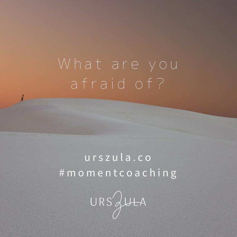 what are you afraid of? Urszula Lipsztajn Moment Coaching