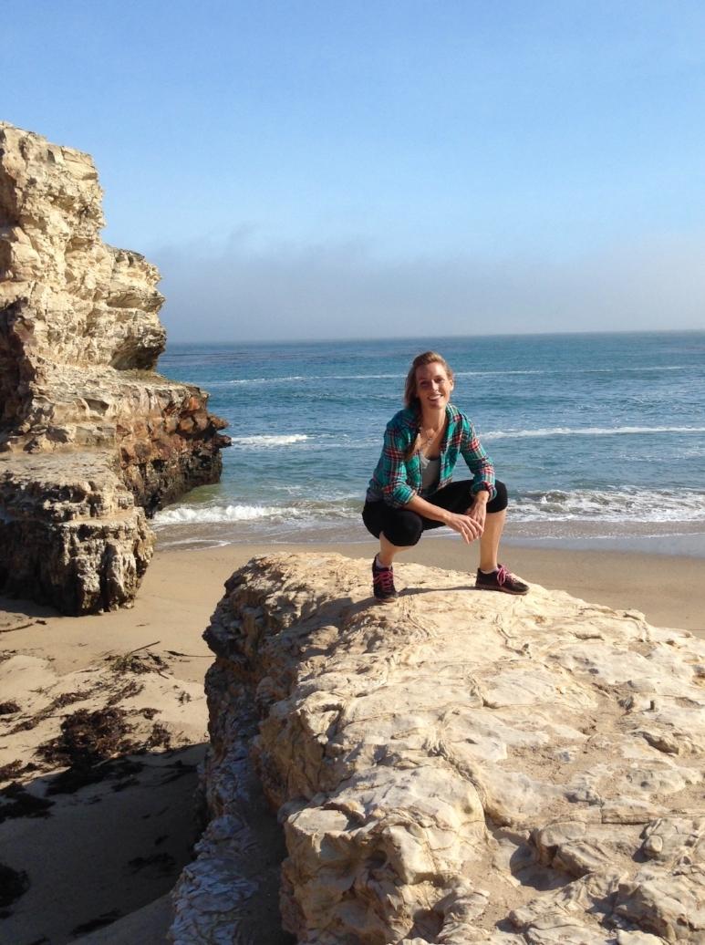 Alexis Enjoying The Sunshine On a Rock At A Hidden Beach