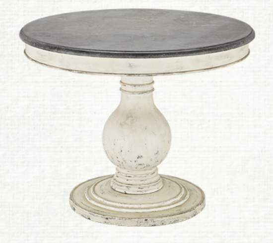 {This rustic Luca dining table from Arhaus is small enough to be an entry table in a large foyer.}