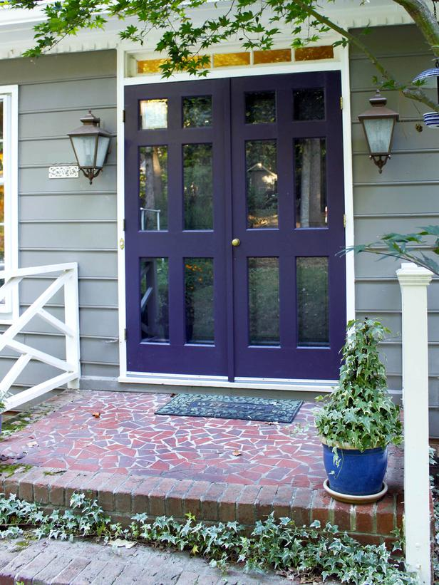 {I love this shade of purple and how it works with the house color, from  PrettyHandyGirl.com .}