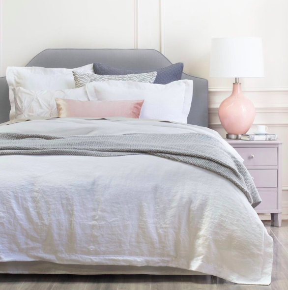 {Lane White Duvet by  Crane & Canopy .}