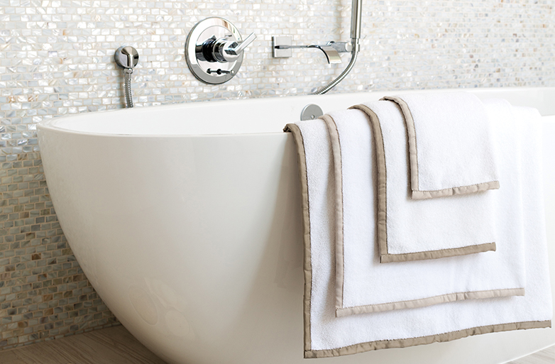 {Ultra-soft and absorbent bath towels can elevate your guests' experience to hotel status. From:  Anne Selke .}