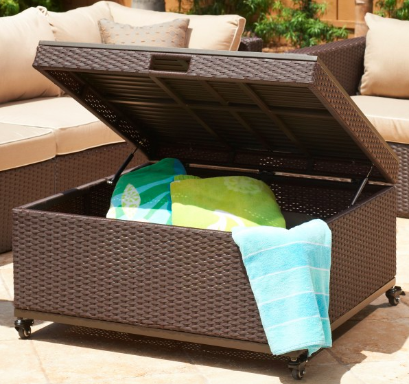 {Wicker is the perfect outdoor material, weather proof and it can withstand some wear and tear. From:  Mission Hills Furniture .}