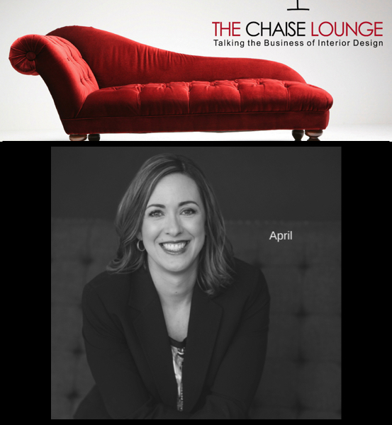 "{""April Force Pardoe: a force within the interior design industry,""  The Chaise Lounge .}"