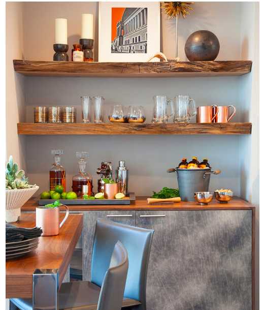 """{So this take on a """"new kitchen material,"""" but perhaps older in spirit, is great for those looking for a little hands-on project. From:  Houzz .}"""