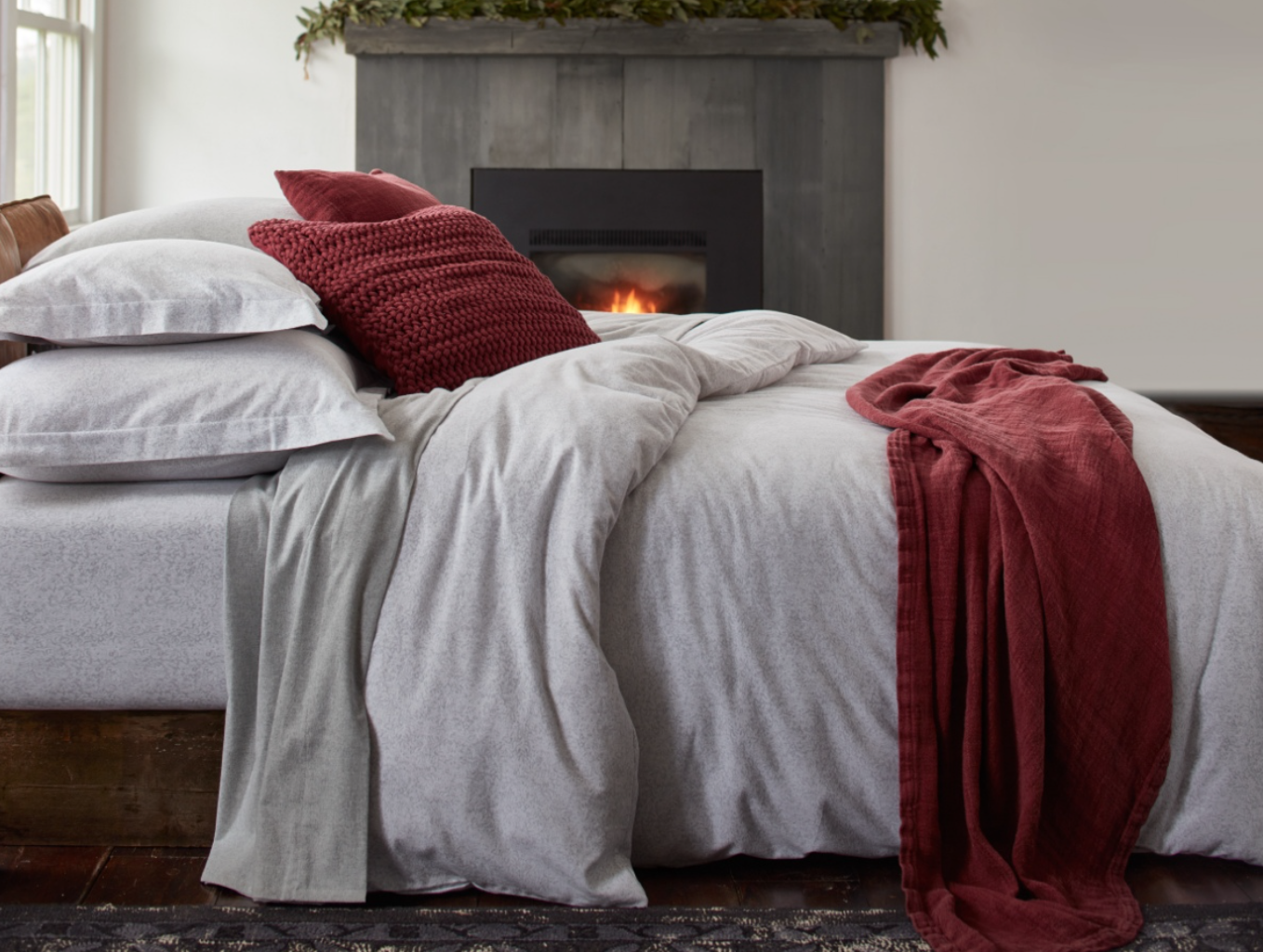 {Flannel sheets make cold nights oh so nice! From  Coyuchi .}