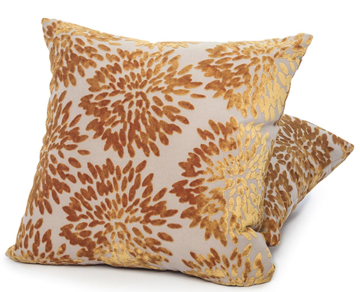 {Chrysanthemum pillow from  Ritz Carlton shops .}