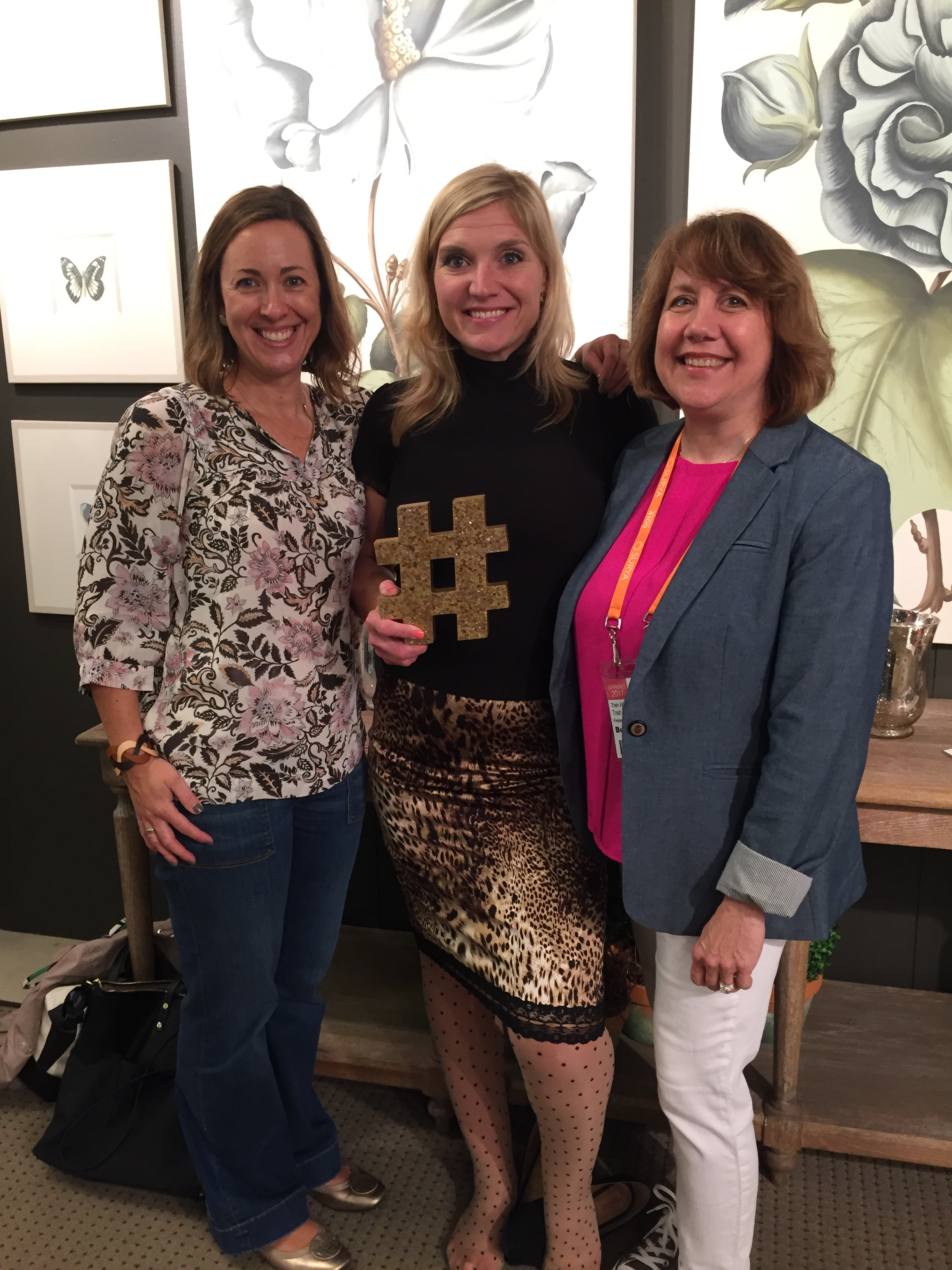 {A visit to High Point Furniture Market included a fun tour with designers.}