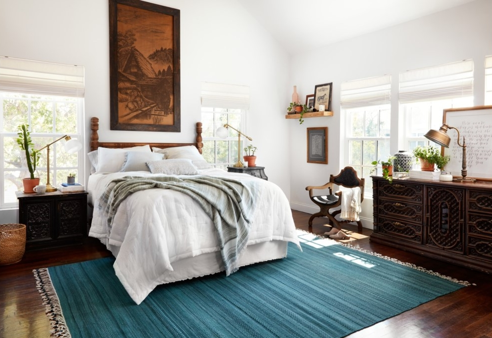 {This wool rug has a rich color and subtle pattern. From:  Loloi .}