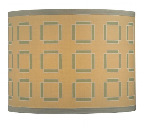 {Modern and graphic shade. From  Destination Lighting .}