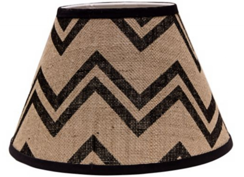 {A classic chevron pattern adds interest to this shade. From  Eurostyle Lighting .}