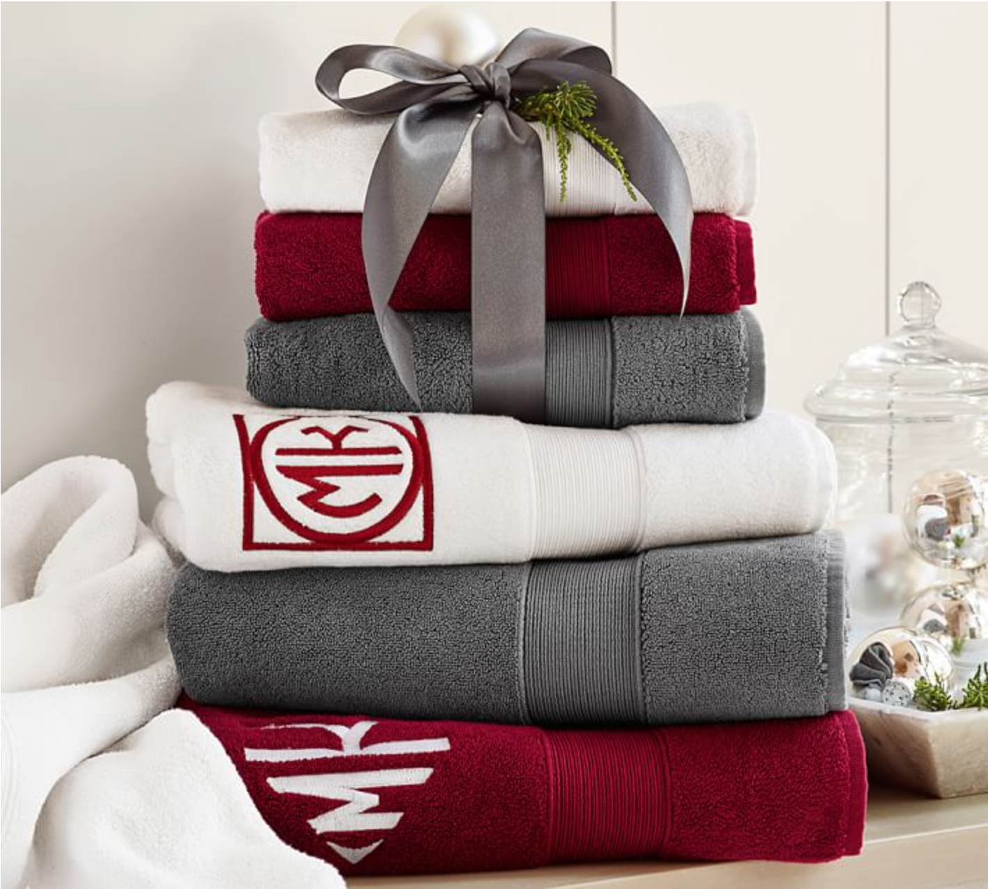{Fresh towels will make your holiday guests feel at home – or at a nice hotel! From  Pottery Barn .}