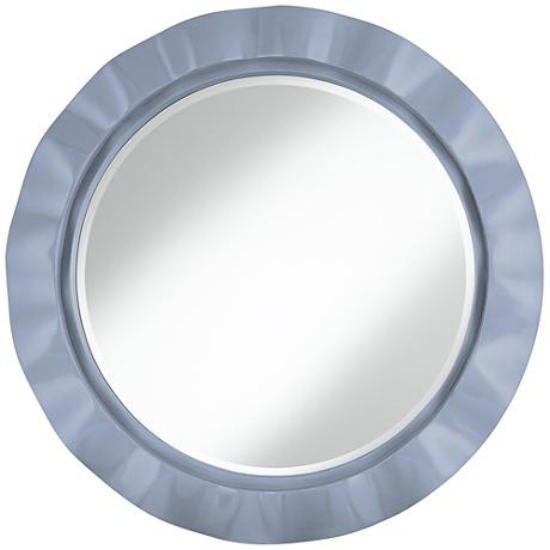 {Add a little COTY trend to your wall with this Serenity blue mirror, From:  Lamps Plus .}