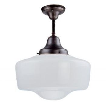 {Semi flush mount light from Schoolhouse Collection, DVI, $150}