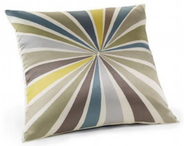 . {Pillow with teal & bronze. From:  West Elm .}