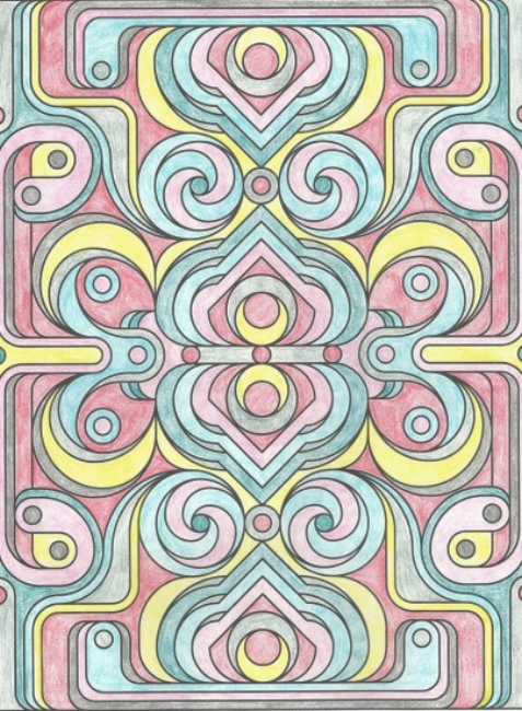 {Coloring book page colored by me!}