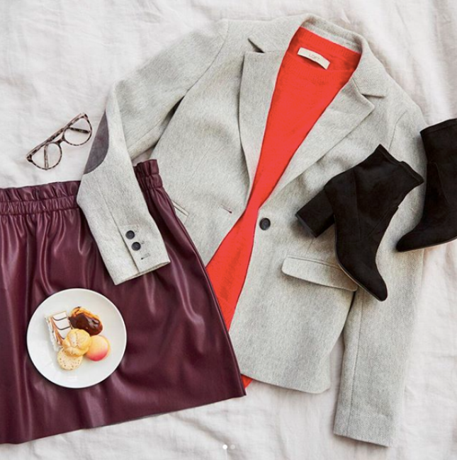 {Pull color palette inspiration from your favorite ensembles. From:  Loft .}