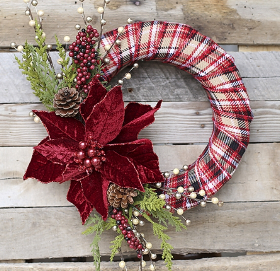 {Ribbon also makes for a great craft project material. Take a stab at a homemade wreath, like one. From:  Blooming Homestead .}