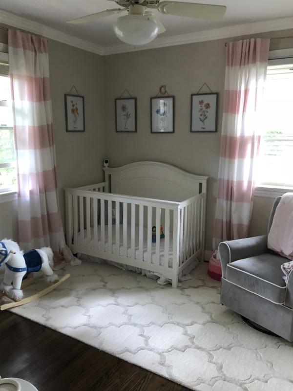{Kyler exercised her design thumb in her daughter's nursery.}