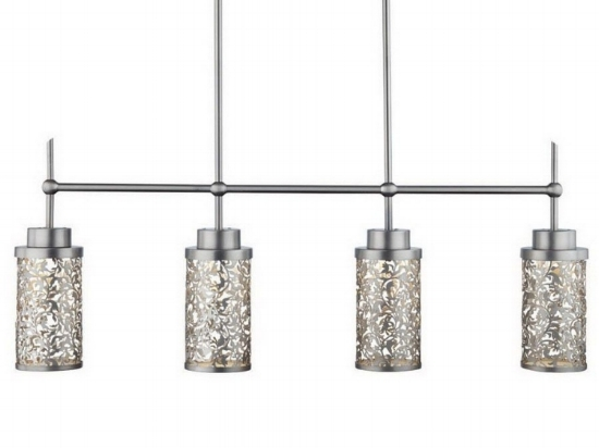 { Brocade 4-light LED pendant , by Philips Forecast, dimmable}